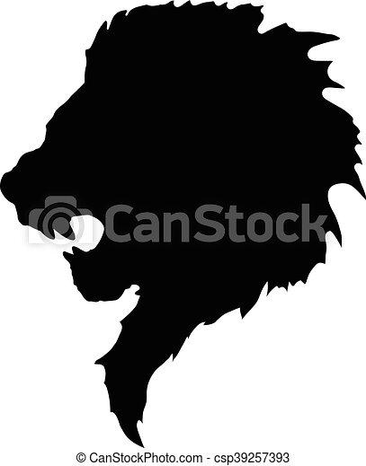 a50f6bb23 Lion head tattoo-2. This is a simple tattoo lion head.