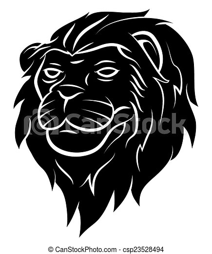 Lion Head Tattoo - csp23528494