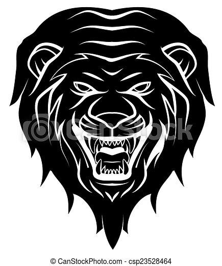Lion Head Tattoo Illustration - csp23528464