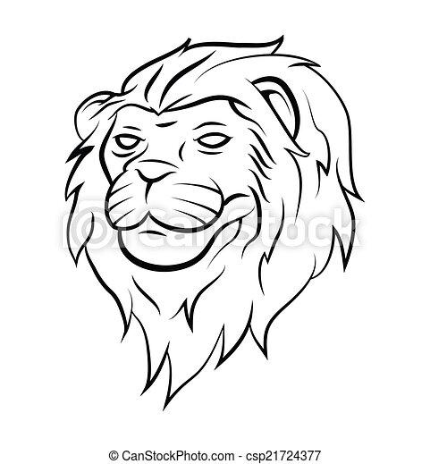 Lion Head Tattoo - csp21724377