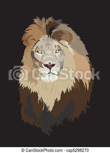 Lion head  - csp5298270