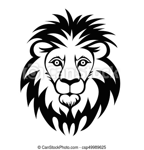 lion head vector illustration isolated on white vector rh canstockphoto com lion head vector logo lion head vector transparent