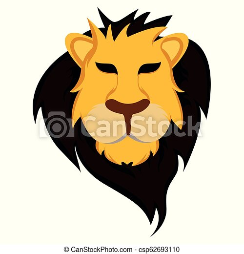 Lion Head - Vector Illustration - csp62693110