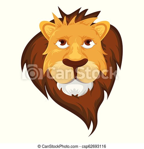 Lion Head - Vector Illustration - csp62693116