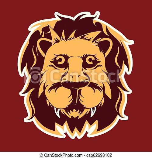 Lion Head - Vector Illustration - csp62693102