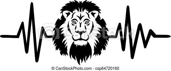 Lion heartbeat line - csp64720160
