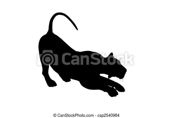 Lion Illustration Silhouette - csp2540984