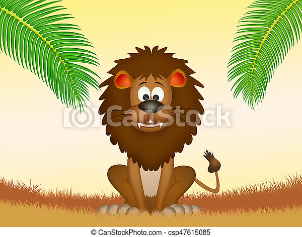 lion in the forest - csp47615085