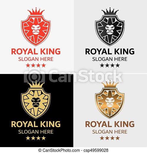 lion king crest logo template