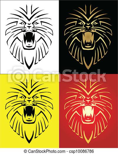 Lion Mascot Vector Illustration - csp10086786