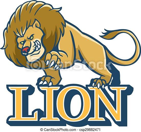 lion mascot eps vector illustration of lion mascot vectors rh canstockphoto ca free lion mascot clipart