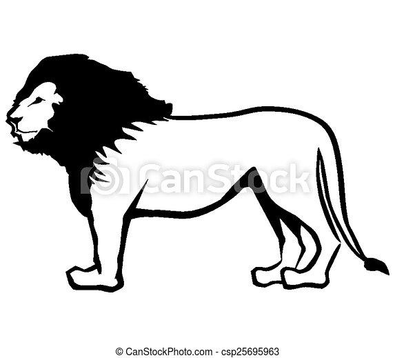 lion outline csp25695963