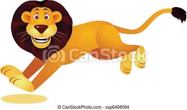 Line Drawing Of Lion : Lion running vector illustration of eps