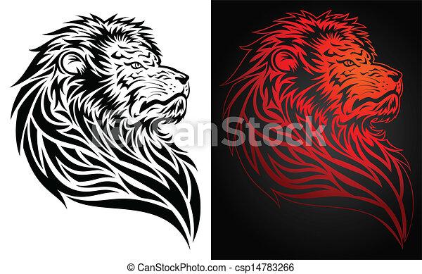 Lion tattoo - csp14783266