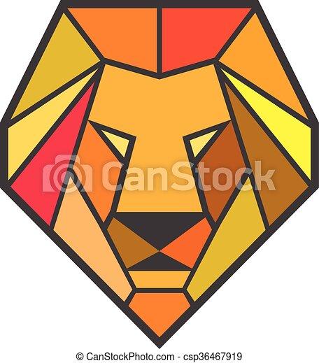 lion  t u00eate  polygone  bas style  ensemble  polygone lion head clip art black and white lion head clipart black and white