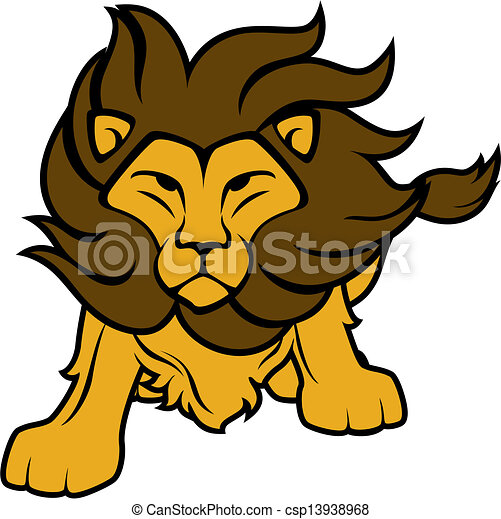 lion vector clipart illustration of lion front view isolated on rh canstockphoto com lion vector drawing lion vector logo