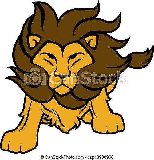 lion vector clipart illustration of lion front view clip art rh canstockphoto ca lion vector freepik lion vector art
