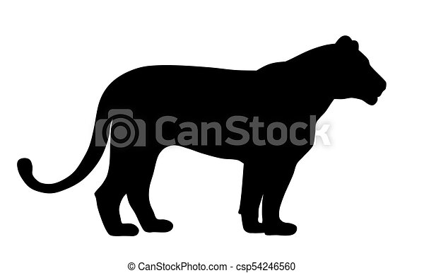 lioness abstract vector illustration of a lioness silhouette rh canstockphoto com lioness clip art pictures lions clipart