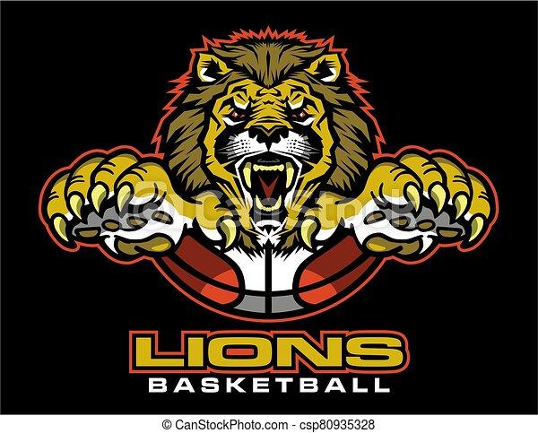 Basketball Lion Clip Art Cartoon Vector Basketball Image
