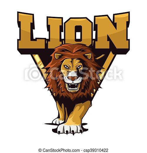lions illustration design colorful - csp39310422