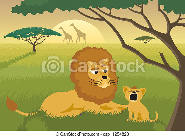 Lions in the Wild - csp11254823