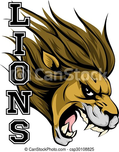lions sports mascot an illustration of a lion sports mascot rh canstockphoto com Lion Head Mascot free lion mascot clipart