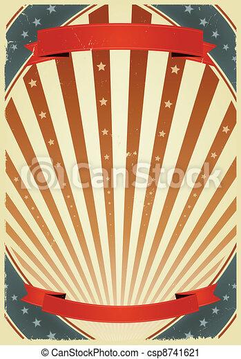 lipiec, amerykanka, chorągwie, kwarta - csp8741621