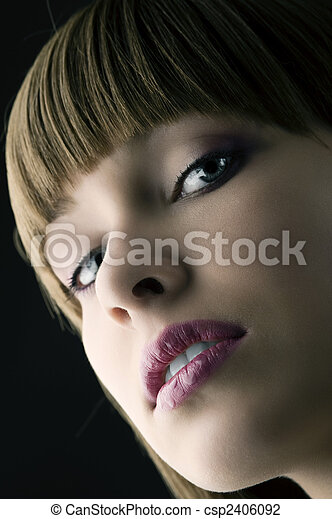 lips with water drops - csp2406092