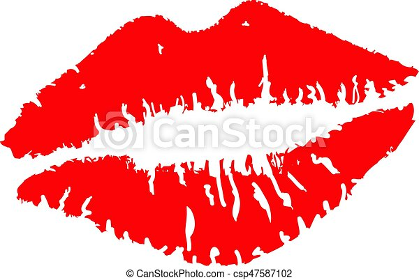 Lipstick kiss - csp47587102
