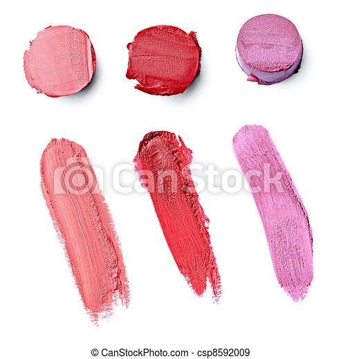lipstick make up beauty smudged - csp8592009