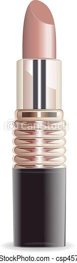 Lipstick set isolated on white background vector. - csp45793509