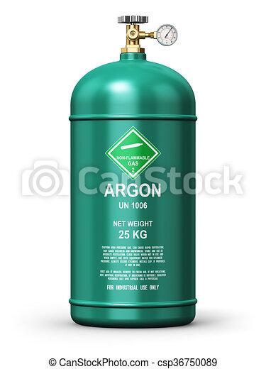 Liquefied argon industrial gas container - csp36750089