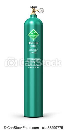 Liquefied argon industrial gas cylinder - csp38299775