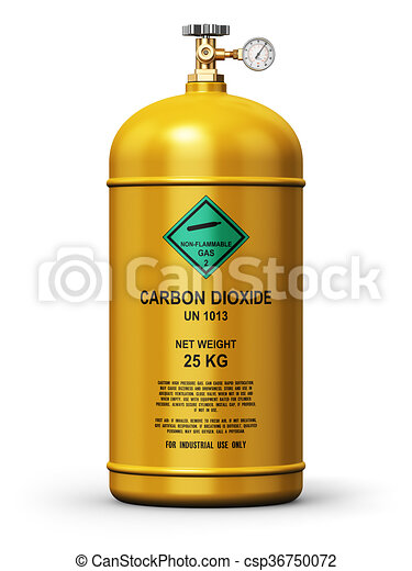 Liquefied carbon dioxide industrial gas container - csp36750072
