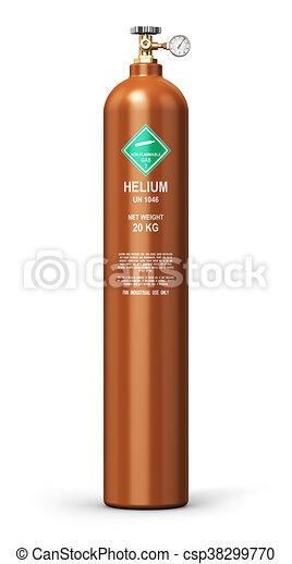 Liquefied helium industrial gas cylinder - csp38299770