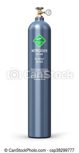Liquefied nitrogen industrial gas cylinder - csp38299777