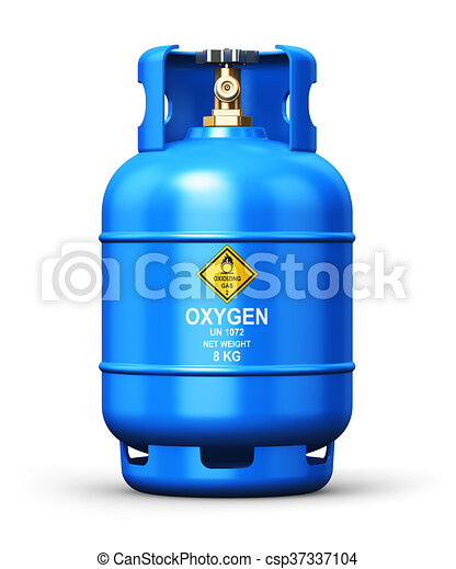 Liquefied oxygen industrial gas container - csp37337104