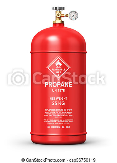 Liquefied propane industrial gas container - csp36750119