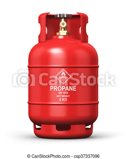 Liquefied propane industrial gas container - csp37337096