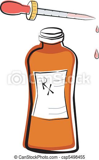 Liquid Prescription Medication - csp5498455