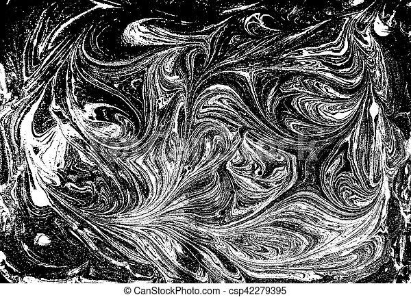 Liquido Pattern Marmorizzato Sfondo Nero Monocromatico Bianco