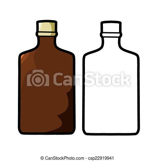 Vector Illustration Liquor Bottle On A White Background