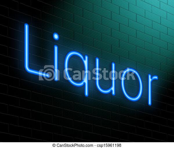 Liquor concept. - csp15961198