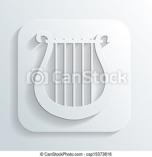 lira, vektor, ikona - csp15373816