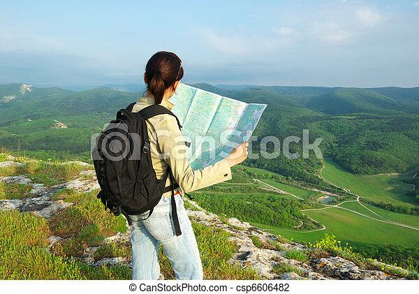 lire, carte, toutist - csp6606482