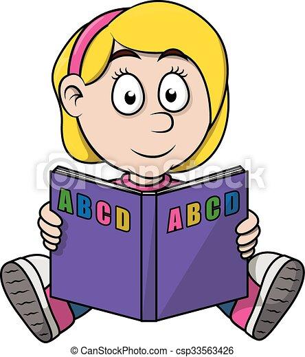 Lire Girl Livre Dessin Anime