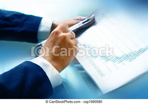 lire, rapport, financier - csp1690580