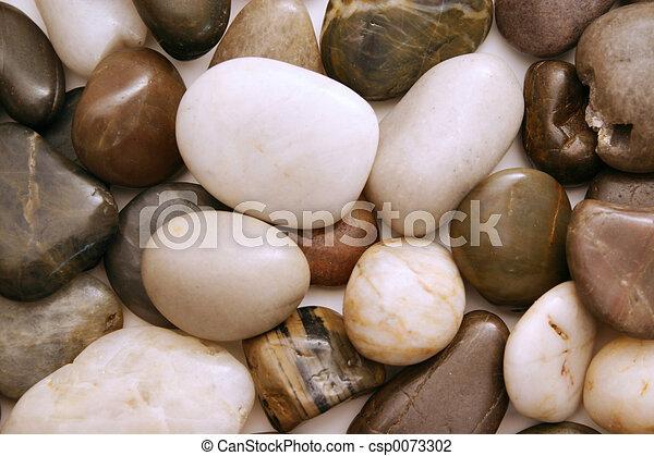 liso, pedras praia - csp0073302