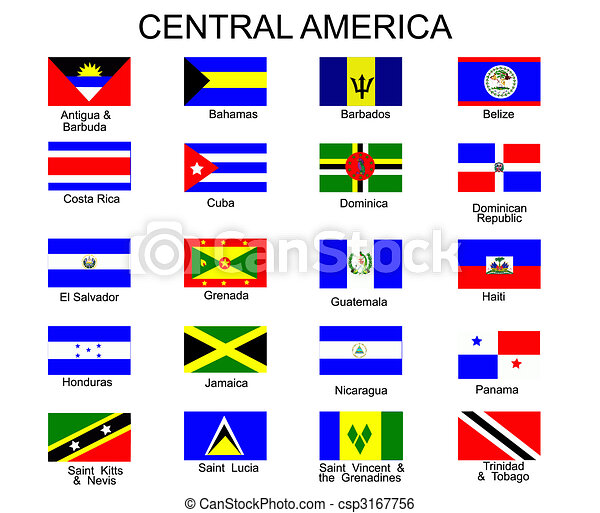 List of all flags of Central America  countries - csp3167756