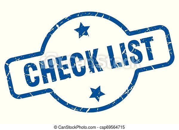 Lista de comprobación - csp69564715